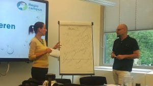 Panagiotis and Charitini at the DEAL meeting 2